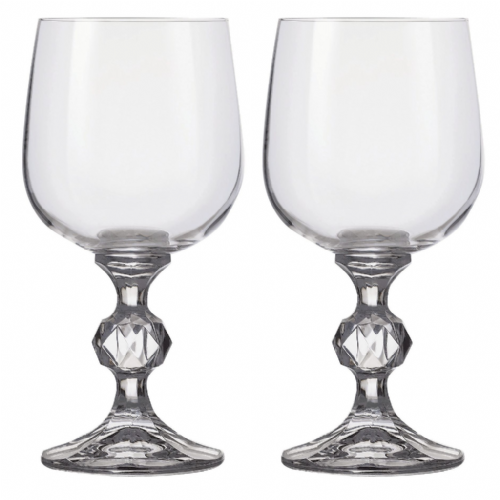 Engraved Pair of 340ml Claudia Goblets